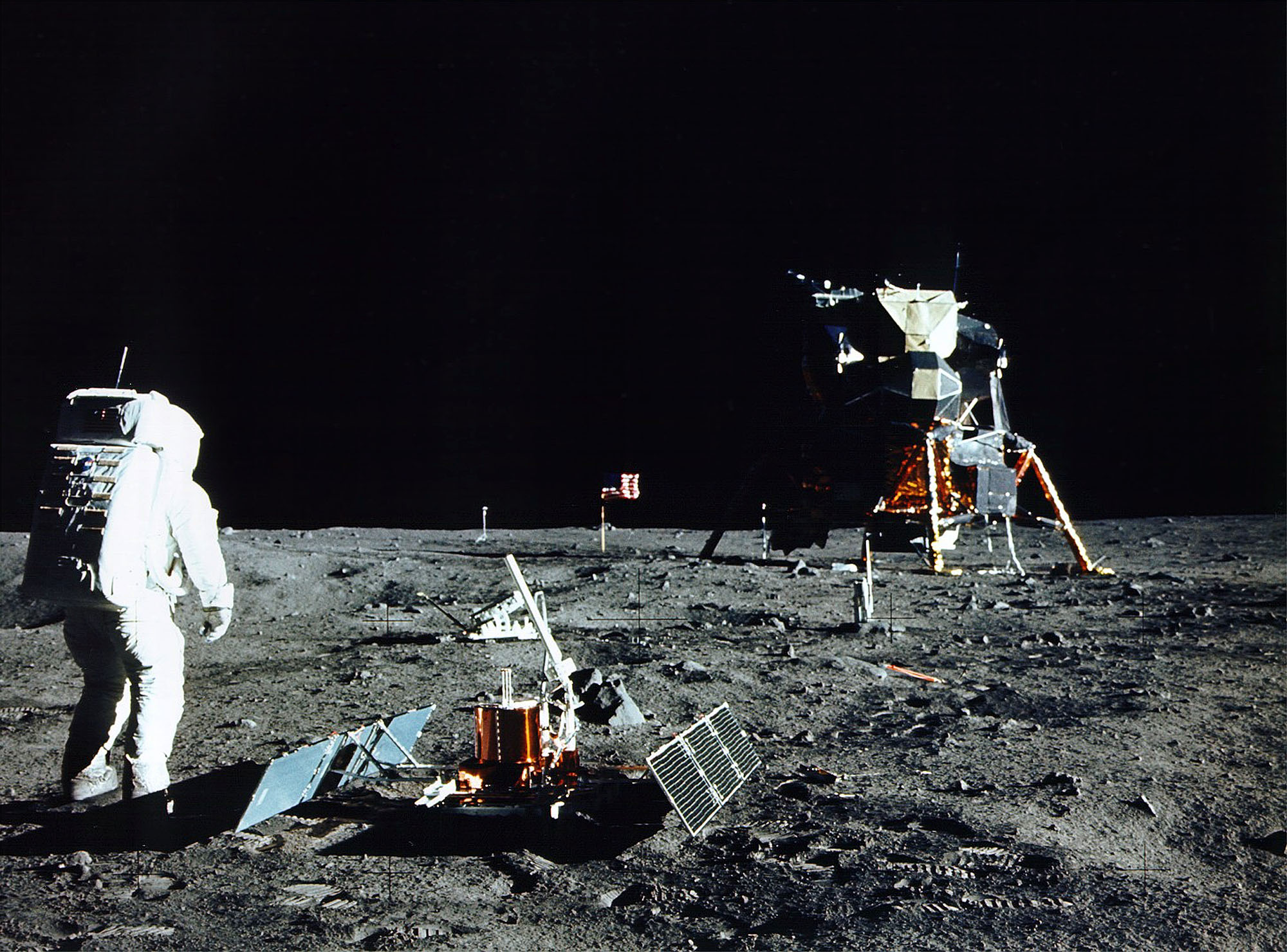 President Nixon had a speech prepared if the moon landing mission was to fail. (NASA/Newsmakers)