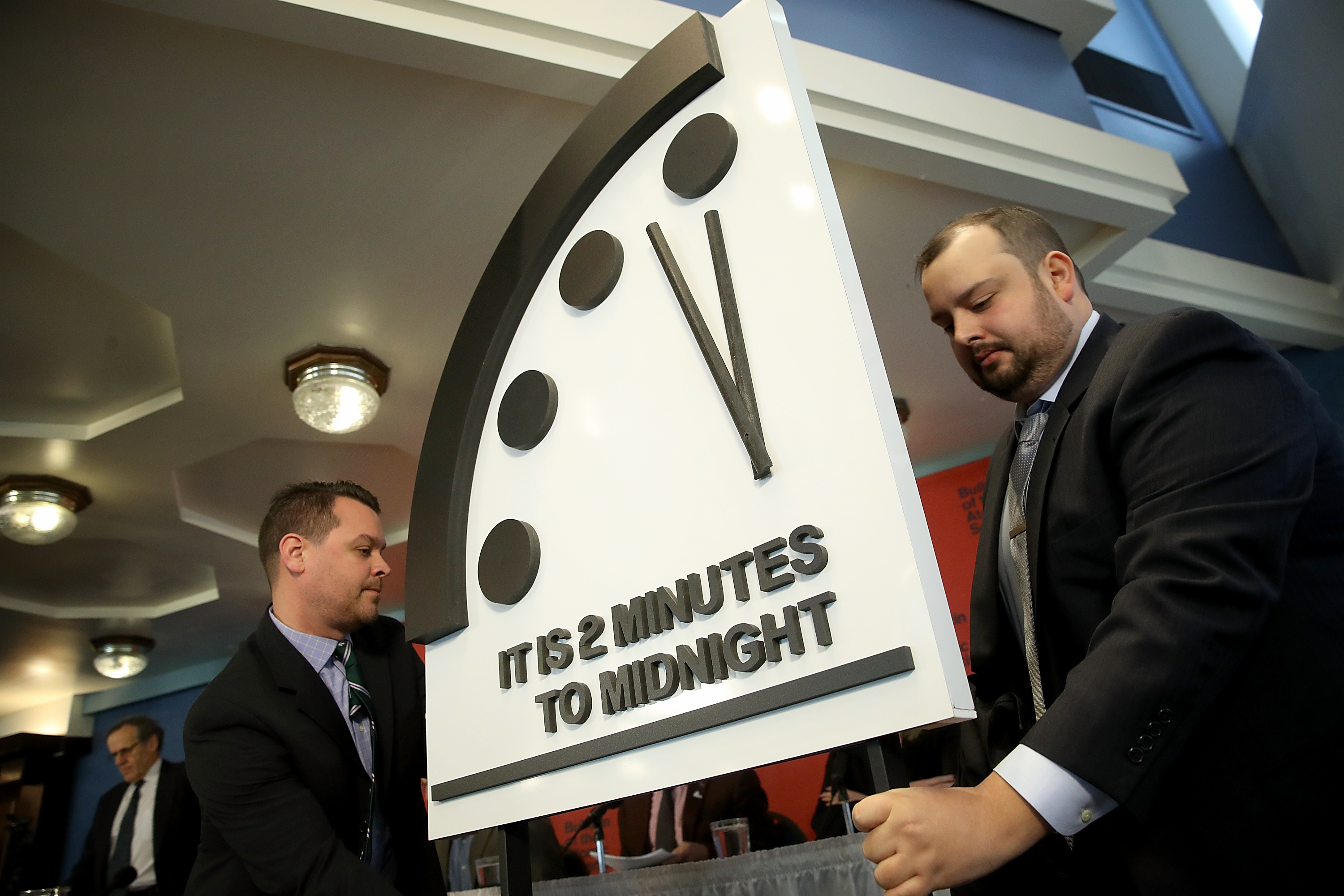 The Doomsday Clock (Win McNamee/Getty Images)