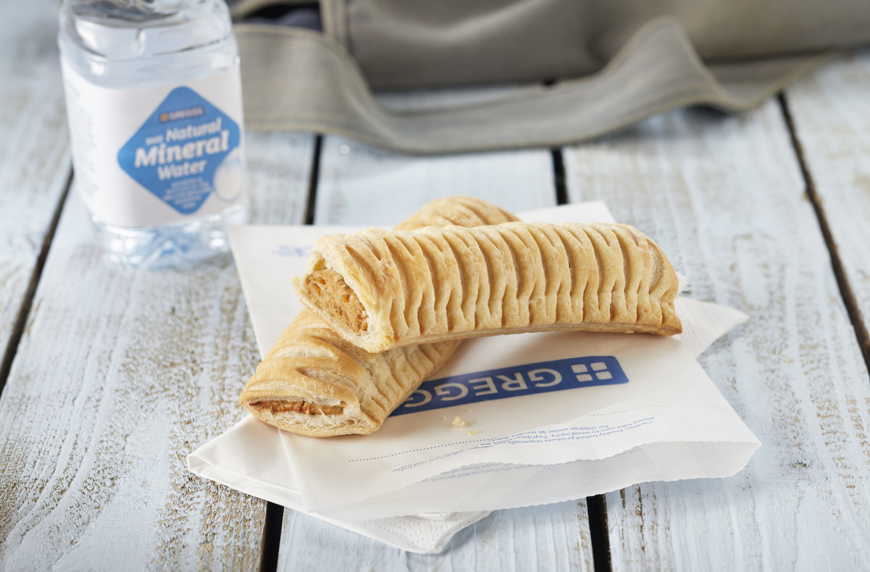 Greggs' new vegan sausage roll which will go on sale from Thursday (Greggs/PA Wire)