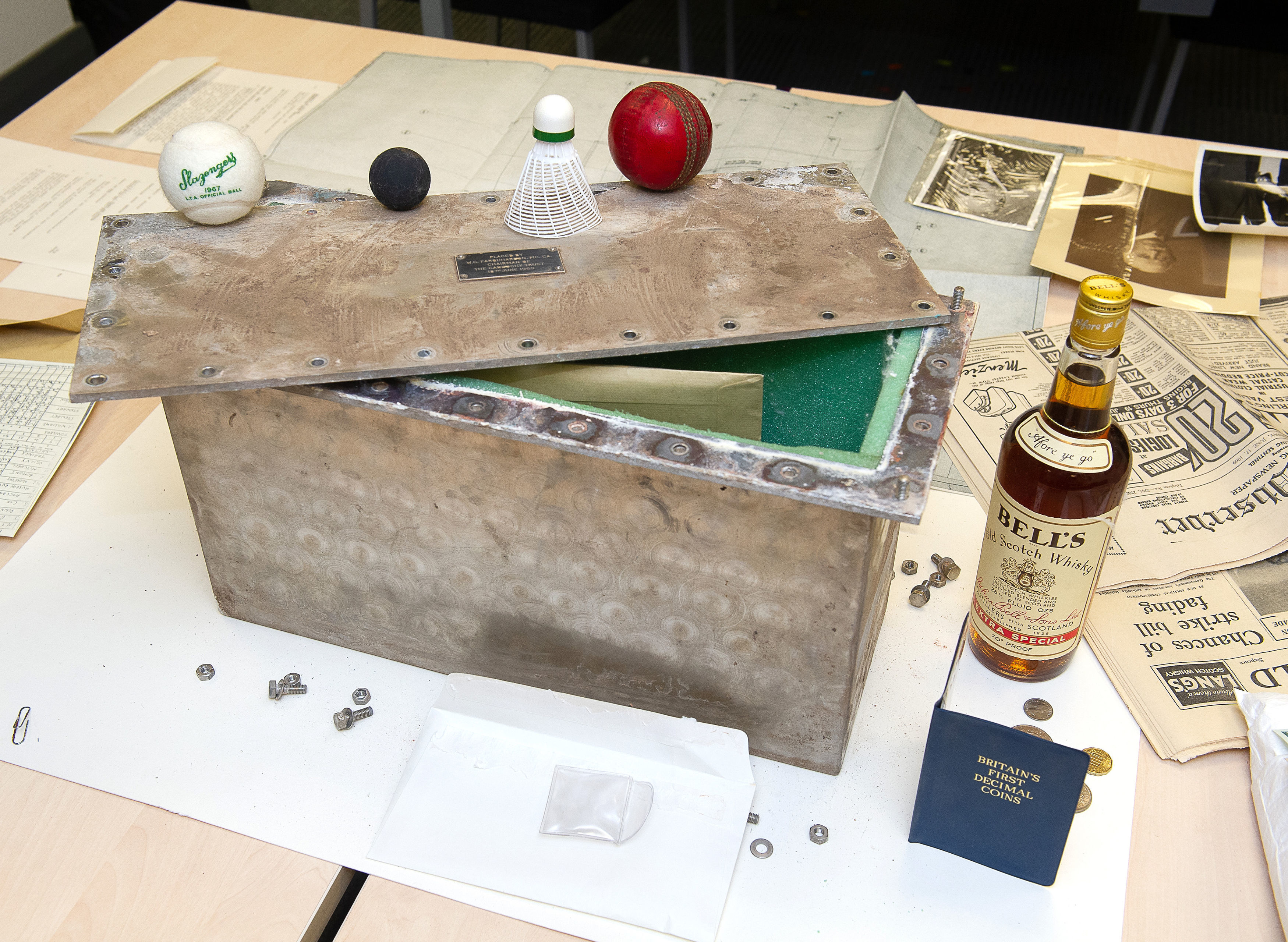 The time capsule (University of Stirling/PA Wire)