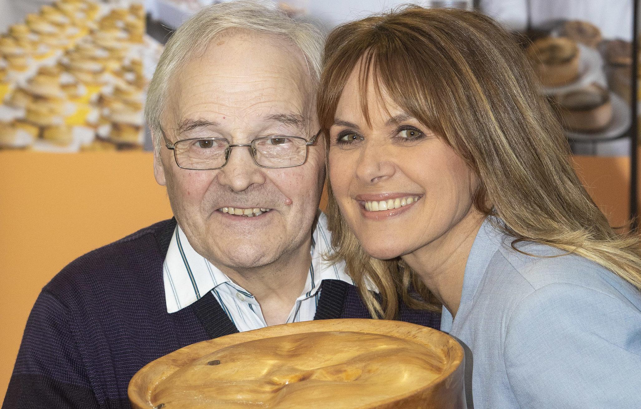 Kerr Little of The Little Bakery of Dumfries with Awards host Carol Smillie
