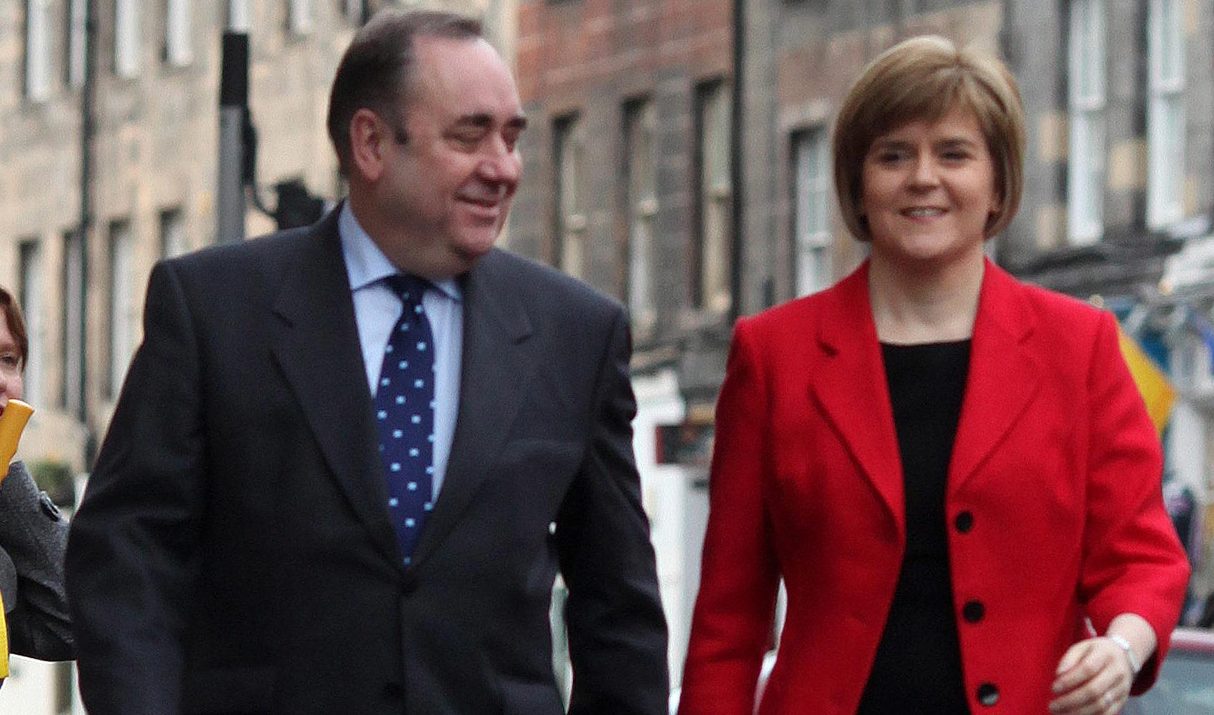 Alex Salmond and Nicola Sturgeon. (Allan Milligan)