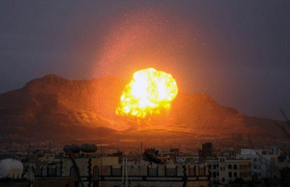 A Saudi-led air strike in Yemen