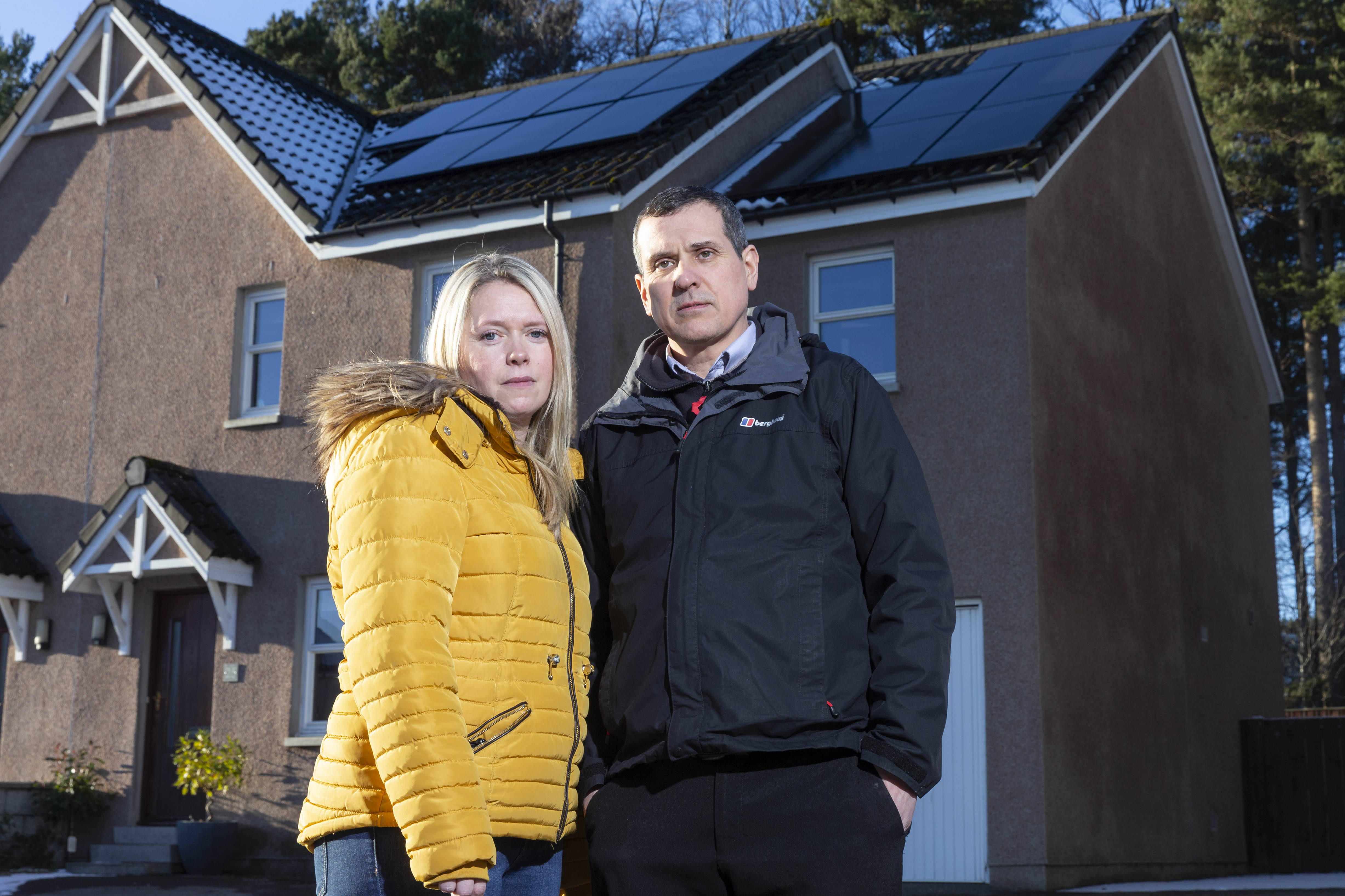 Kevin Tracy, who bought some solar panels and has had trouble with the installers. (Ross Johnstone/Newsline Media)
