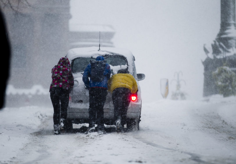Heavy snow in Glasgow during the Beast from the East