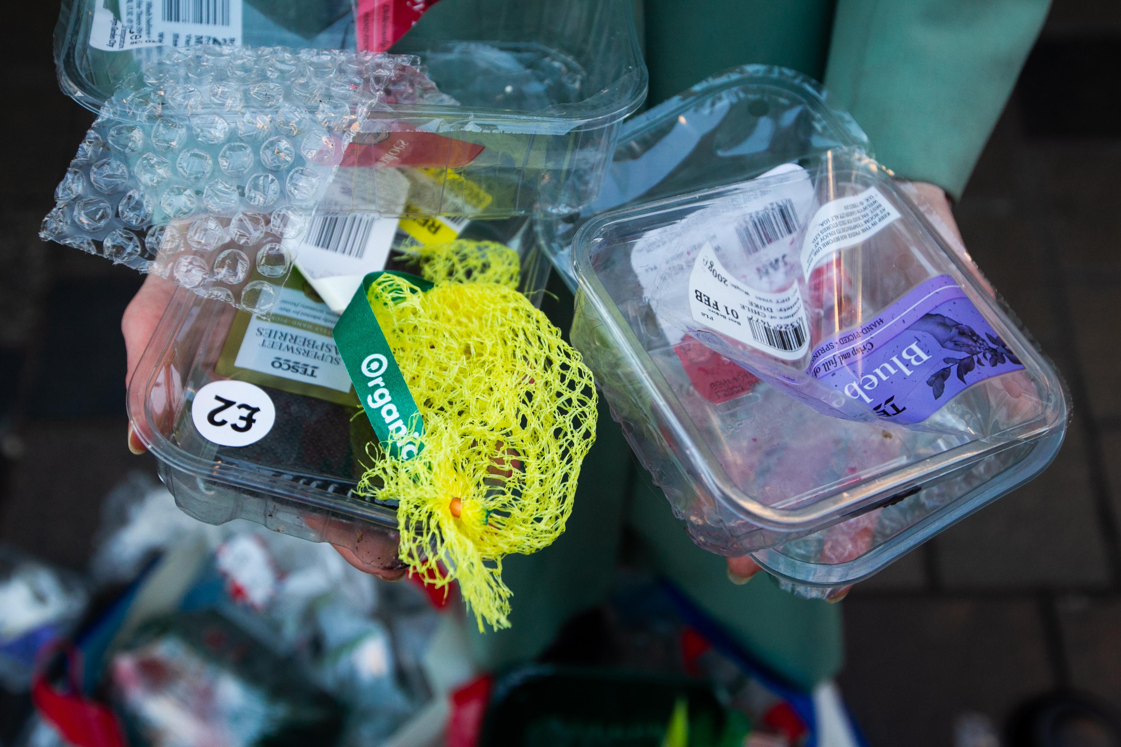 Supermarket packaging.