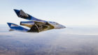 SpaceShipTwo, a.k.a VSS Unity over the Mojave Desert on a previous test flight