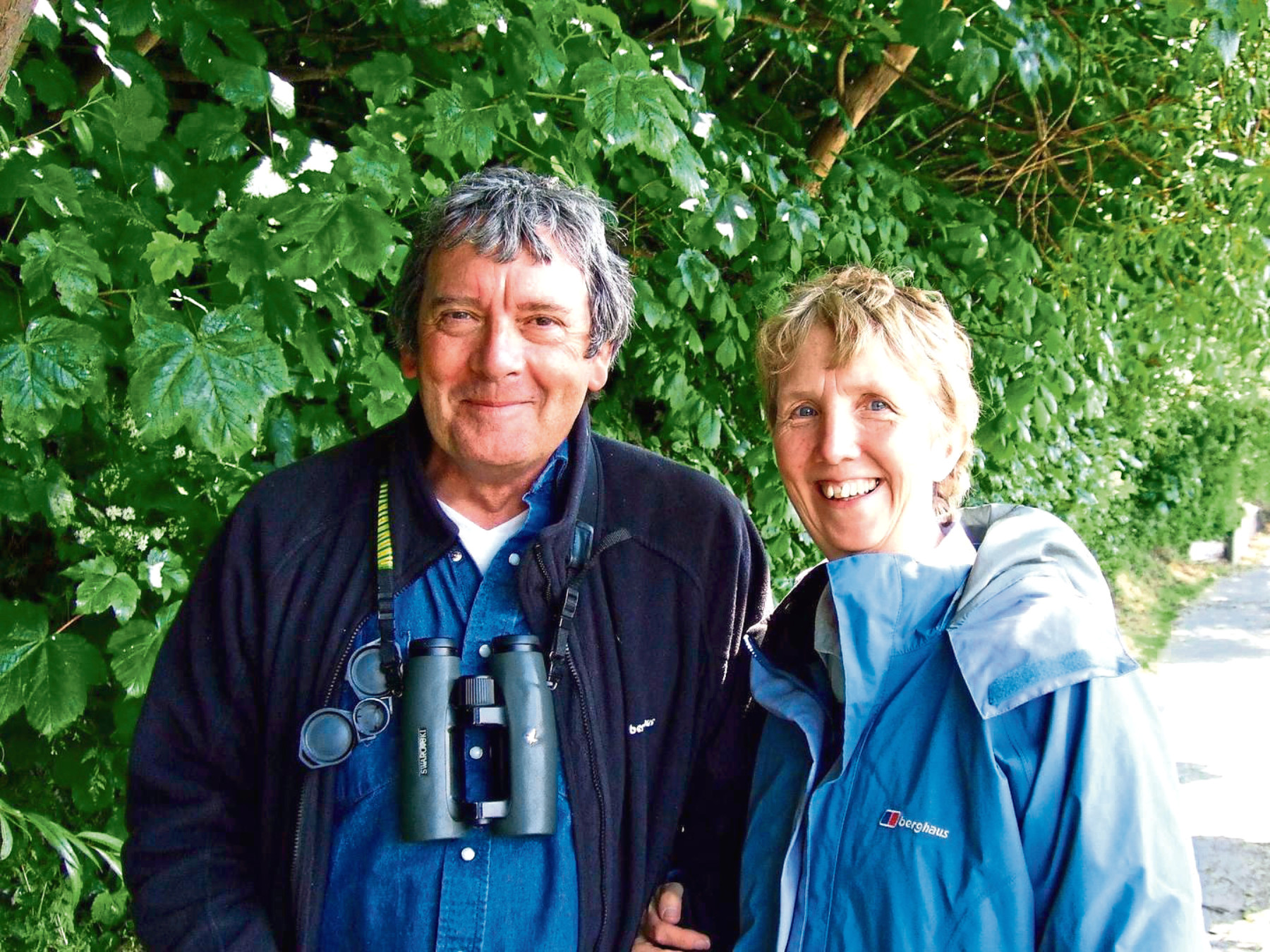 Ann Cleeves with husband Tim.