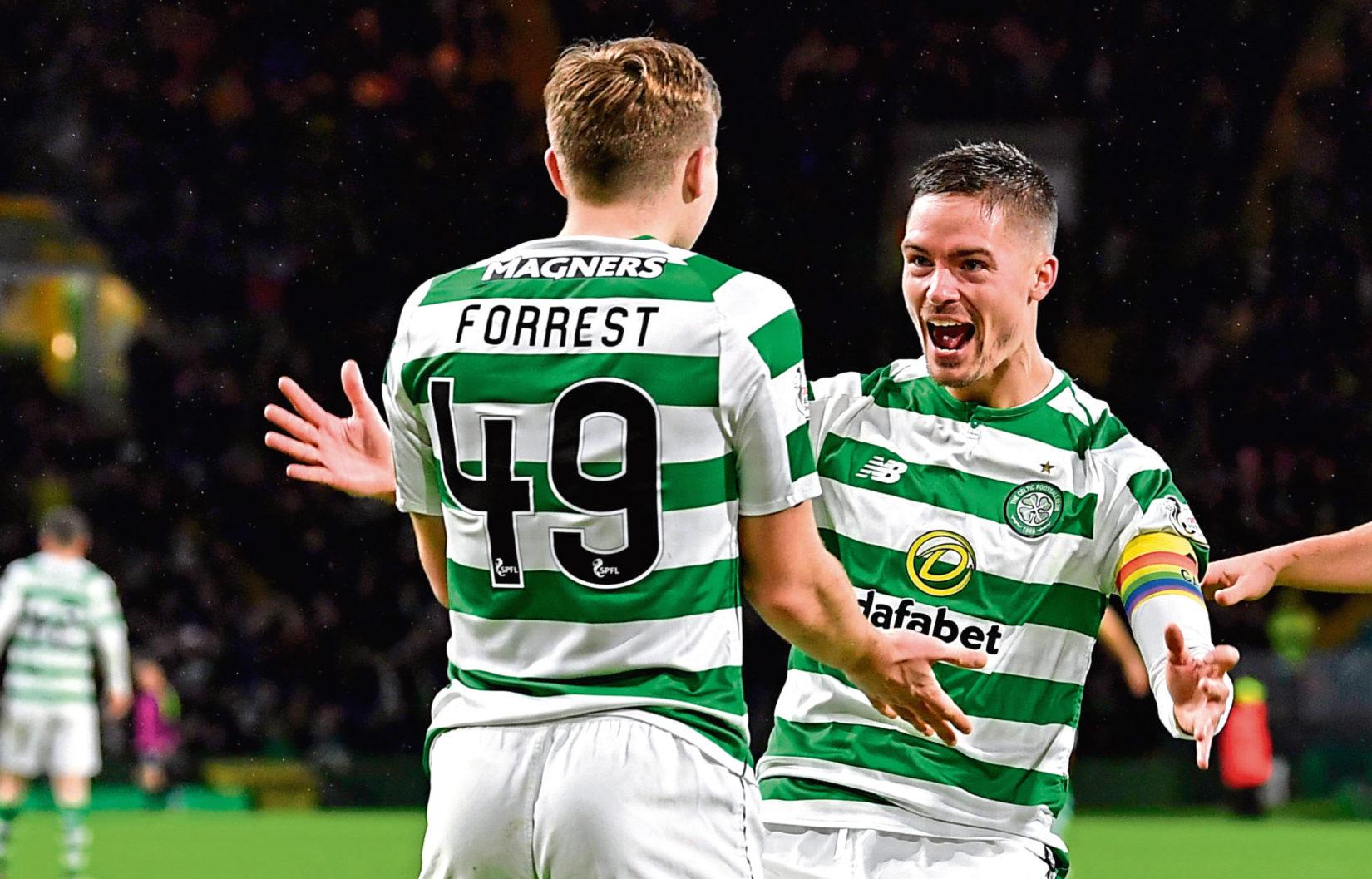 Forrest and Lustig celebrate (SNS Group)