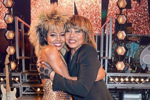 Musical cast member Adrienne Warren (L) and Tina Turner (David M. Benett/Dave Benett/Getty Images)