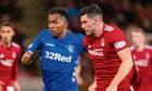 Rangers' Alfredo Morelos and Aberdeen's Scott McKenna tussle