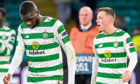 Odsonne Edouard and Callum McGregor dejectedly troop off the field after the 2-0 defeat by Valencia