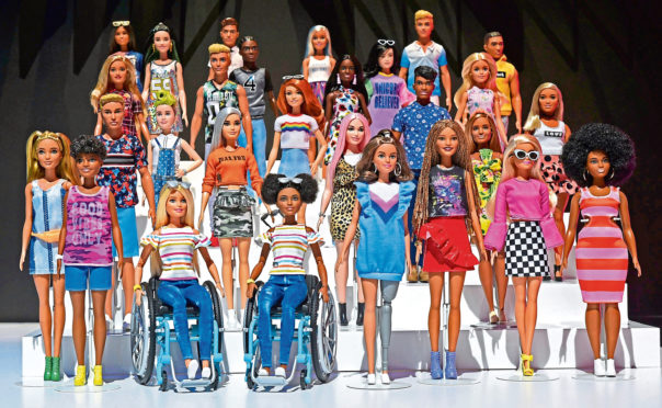 The 2019 Barbie collection features dolls in wheelchairs and with a prosthetic limb