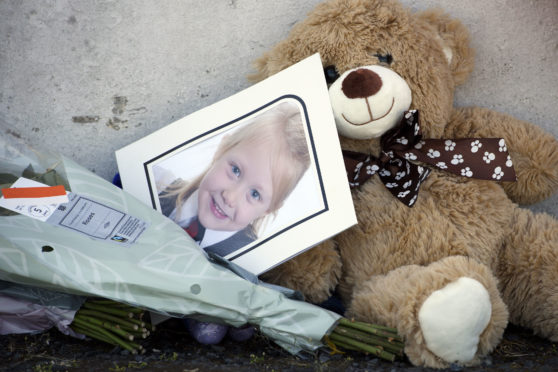 A picture among tributes to Alesha MacPhail