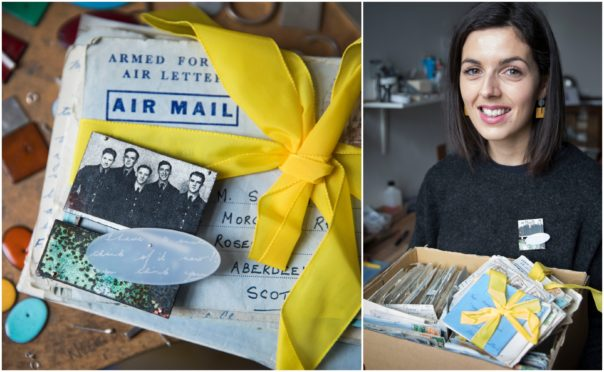 Designer Rebecca Devine on how a boxful of faded notepaper tied with yellow              ribbon charts a great love story and sparked her creativity