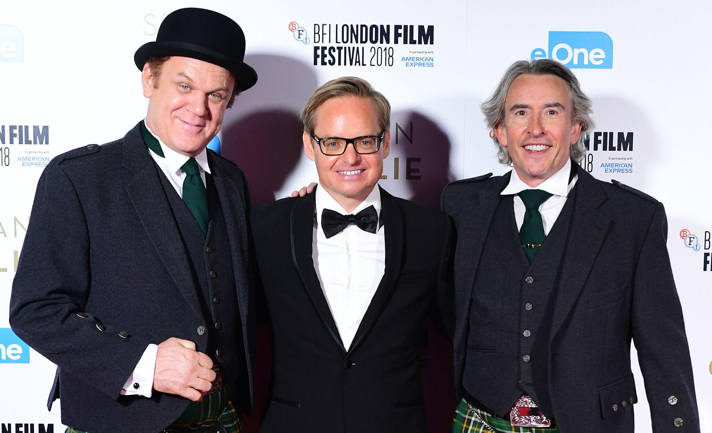 John C. Reilly, Jon S.Baird and Steve Coogan on the red carpet (PA)