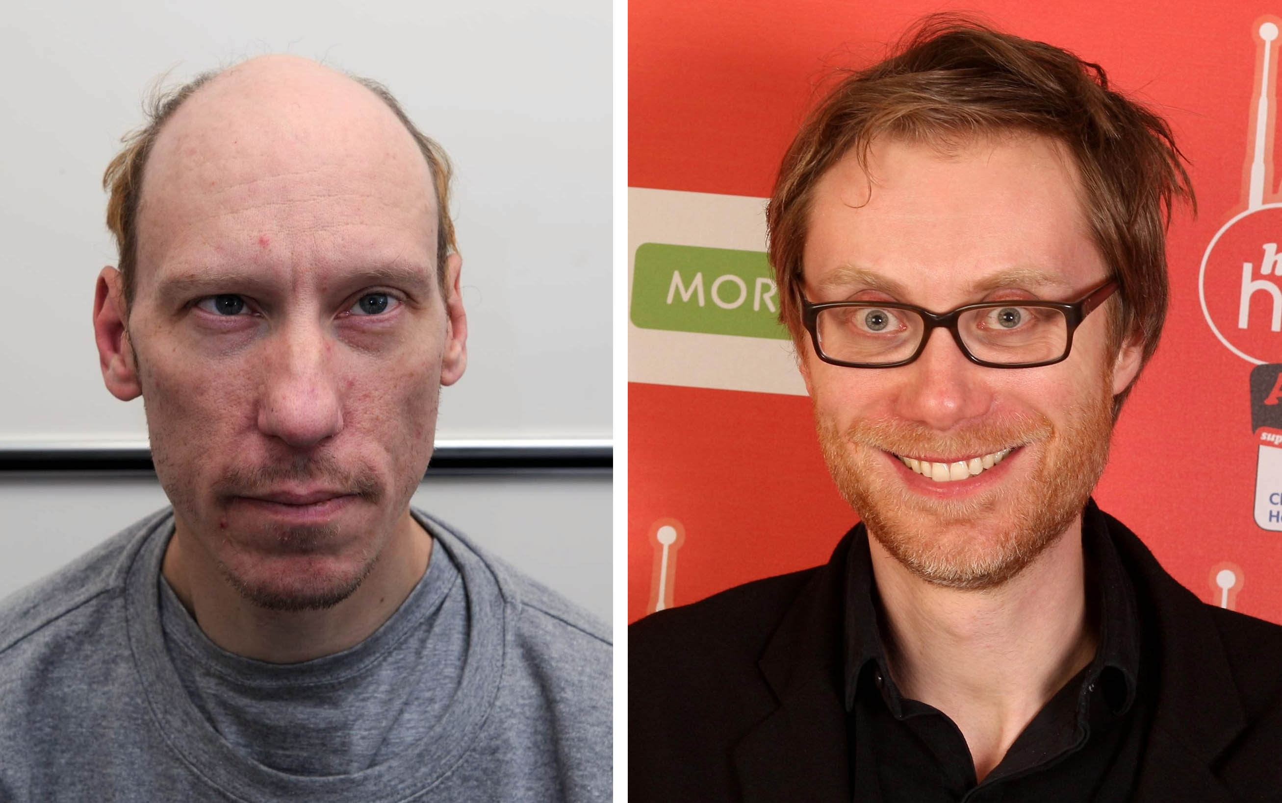 Stephen Port (left) and Stephen Merchant - The Barking Murders will be told from the point of the view of the families of the victims, focusing on their fight to uncover the truth about what happened to their sons and brothers.  (Metropolitan Police/Dominic Lipinski/PA Wire)