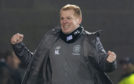Celtic manager Neil Lennon celebrates Odsonne Edouard';s late goal