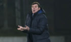 St Johnstone manager Tommy Wright on the touchline