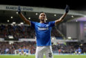 Rangers' Alfredo Morelos celebrates