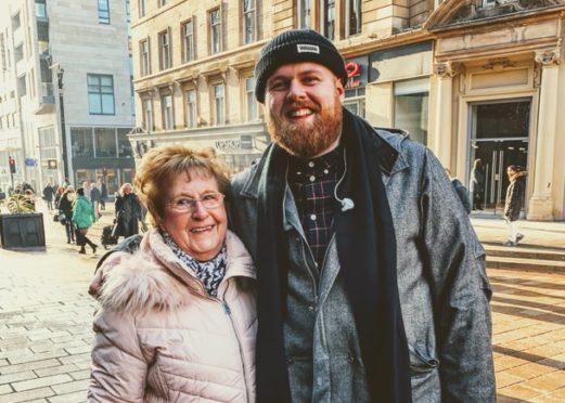 Tom Walker with his gran Sadie.