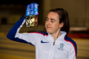 Laura Muir with the medals
