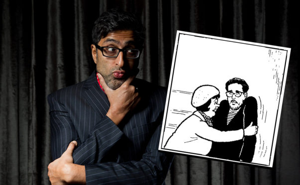 Still Game's Sanjeev Kohli guest stars in The Broons this weekend