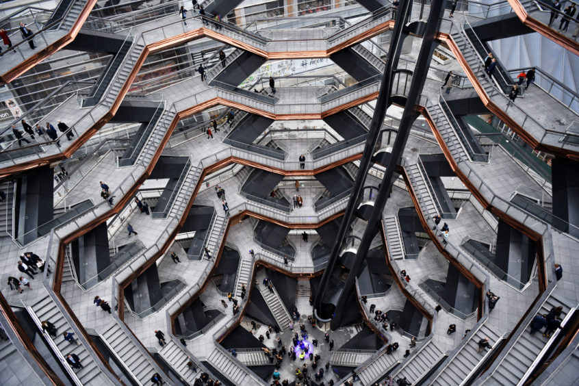 A view inside the Vessel at Hudson Yards, New York's newest neighbourhood