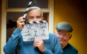 Still Game's Greg Hemphill and Ford Kiernan film the sitcom's final series, which concludes on Thursday