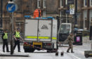 Bomb disposal on site at Glasgow University last week