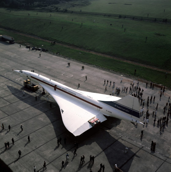 Roll-out of a pre-production Concorde, 1971