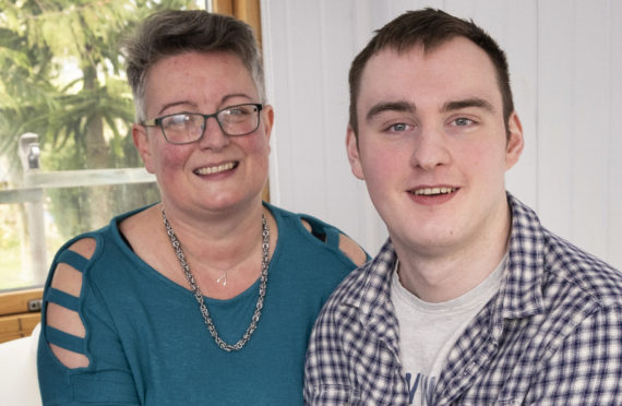 Ashley Palmer with his mother Angela McIntyre