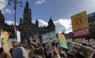 Young people gather to make their voices heard in George Square, Glasgow