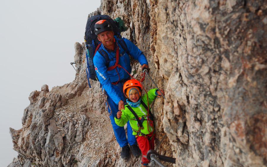 Leo with Freya on Triglav, the highest peak in Slovenia