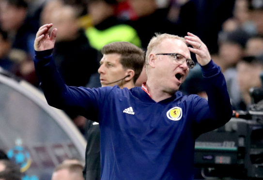 Scotland boss Alex McLeish on the touchline