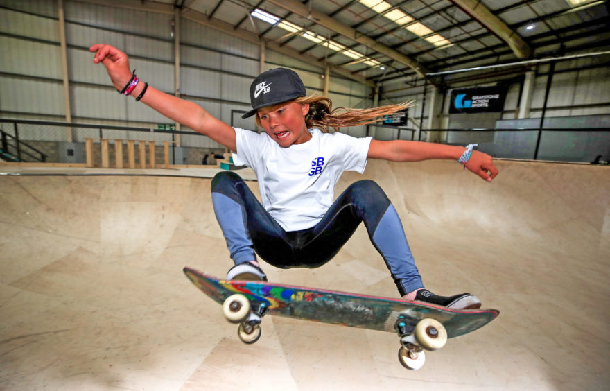 Sky Brown, 10, from Miyazaki in Japan during the Skateboard GB Team Announcement