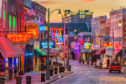 The neon lights of Beale Street