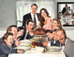 Norman Rockwell painted his famous Thanksgiving Day picture Freedom From Want (above) in 1942 and it has inspired numerous  tributes and parodies, including this one by TVs modern family.