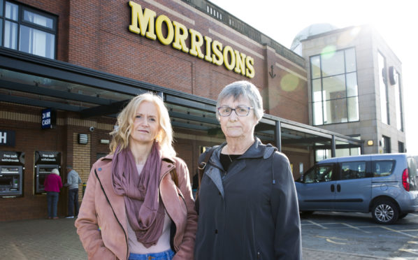 Joanne Joss, left, and Hilda McPherson at Morrisons' Paisley Anchor Mills store