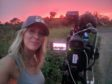 Caroline Menzies filming for Hurricane Man on Dave