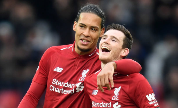 Andy Robertson and Virgil van Dijk of Liverpool are both in the Team of the Year