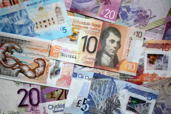 Scotland's current bank notes.