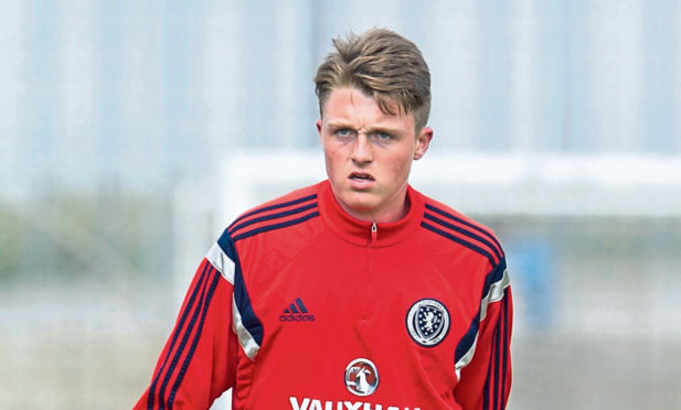 Harry Souttar in training with Scotland in 2015