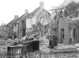 1st May 1942:  A house in York is reduced to rubble by a World War II 'Baedeker' raid, one of a series of German air raids on British cities of cultural significance.