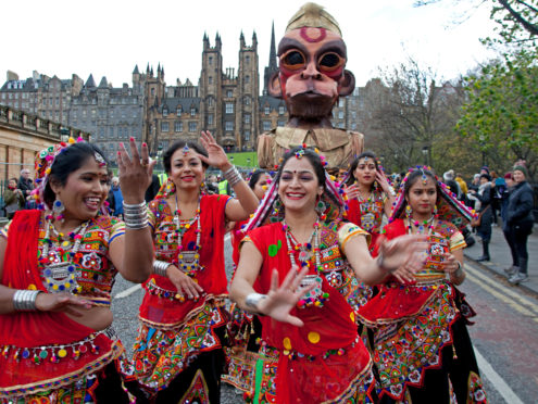 Diwali festival dancers bring vibrancy and colour to the streets of Edinburgh every year
