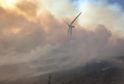 The major wildfire in Moray continues into Wednesday morning.