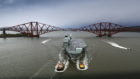 HMS Queen Elizabeth on the Forth