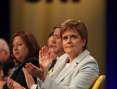 First Minister Nicola Sturgeon  at the SNP European Elections Campaign Conference being held at EICC in Edinburgh.