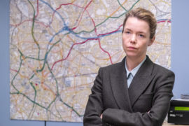Anna Maxwell Martin in her role as Detective Chief Superintendent Patricia Carmichael