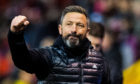 Aberdeen manager Derek McInnes celebrates his side's 3-1 win